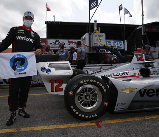 Will Power earned the pole for Saturday's NTT IndyCar Series event at the Mid-Ohio Sports Car Course. (IndyCar Photo)