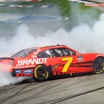 Justin Allgaier won his second-straight NASCAR Xfinity Series event Saturday at Richmond Raceway. (HHP/Jim Fluharty Photo)