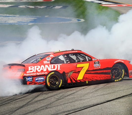 Justin Allgaier won his second-straight NASCAR Xfinity Series event Saturday at Richmond Raceway. (HHP/Jim Fluharty Photo)