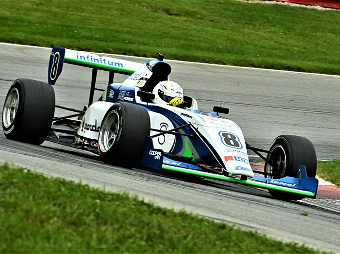 Manuel Sulaiman raced to victory in Saturday's Indy Pro 2000 event. (Al Steinberg Photo)