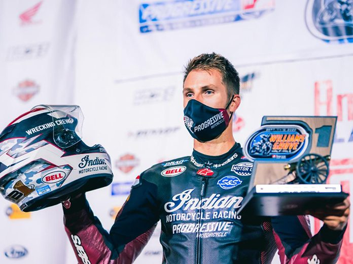 Briar Bauman swept the American Flat Track weekend at Williams Grove Speedway on Saturday.