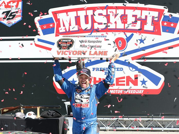 Bobby Santos III earned $20,000 on Saturday at New Hampshire Motor Speedway. (Dick Ayers Photo)