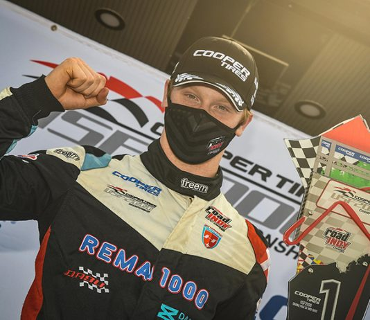 Christian Rasmussen won Sunday's USF2000 event at the Mid-Ohio Sports Car Course.