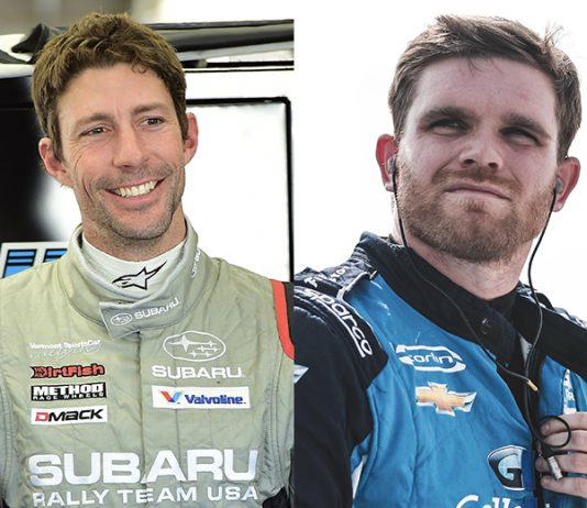Travis Pastrana (left) and Conor Daly (right) have joined Niece Motorsports for the upcoming NASCAR Gander RV & Outdoors Truck Series event at Las Vegas Motor Speedway.