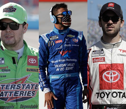 (From left) Erik Jones, Bubba Wallace and Daniel Suarez are all in search of jobs for the 2021 NASCAR Cup Series season. (HHP Photos)