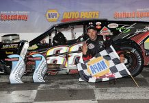 Keith Rocco earned his fifth SK Modified win of the season Friday night at Stafford Motor Speedway.