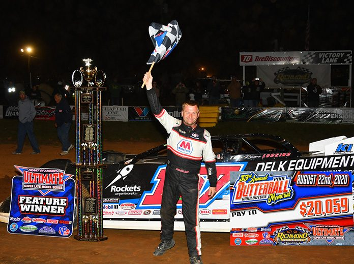 Mike Marlar earned more than $20,000 for his victory in the Butterball Woolridge Memorial Saturday at Richmond Raceway.