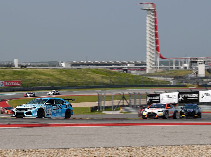 Scott Smithson leads the way in the TC America event Sunday at Circuit of the Americas.