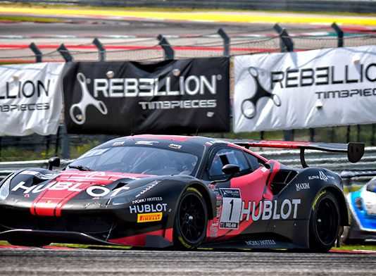 Martin Fuentes and Rodrigo Baptista swept the weekend in GT World Challenge America competition Sunday at Circuit of the Americas.