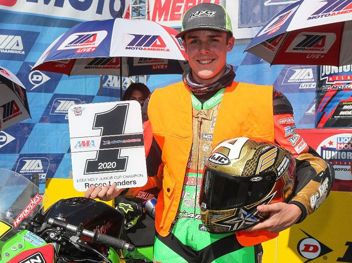 Rocco Landers clinched the MotoAmerica Liqui Moly Junior Cup Championship on Sunday at Barber Motorsports Park. (Brian J. Nelson Photo)