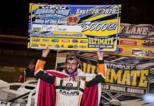 Matt Cosner in victory lane Sunday at Roaring Knob Motorsports Complex. (Shawn Cooper/WRT-Speedwerx Photo)