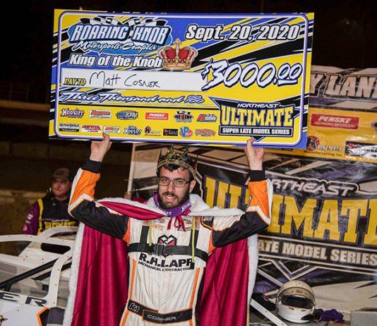 Matt Cosner in victory lane Sunday at Roaring Knob Motorsports Complex. (Shawn Cooper/WRT-Speedwerx Photo)