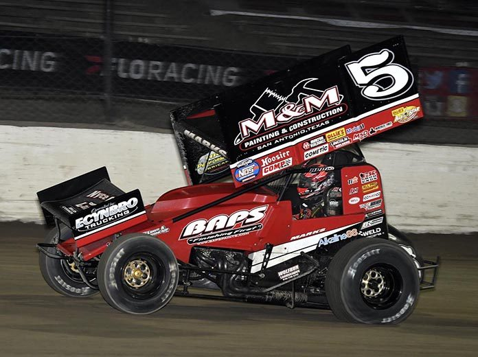 Brent Marks raced to victory on night one of the Governor's Reign event at Eldora Speedway on Tuesday. (Frank Smith Photo)