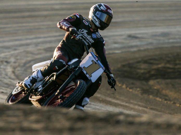 Briar Bauman streaked to another American Flat Track SuperTwins victory Friday night at Devil's Bowl Speedway in Texas.