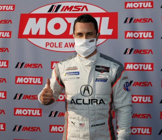 Dane Cameron earned the IMSA WeatherTech SportsCar Championship pole for Sunday's event at the Mid-Ohio Sports Car Course. (IMSA Photo)