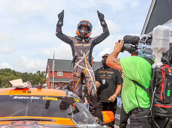 Ernie Francis Jr. won again in Trans-Am Series competition Sunday at Virginia Int'l Raceway.