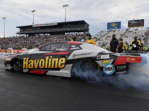 Alex Laughlin left Gainesville Raceway with a victory in the NHRA's Pro Stock class on Sunday. (NHRA photo)