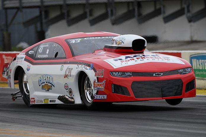 Rickie Smith topped Sunday's E3 Spark Plugs NHRA Pro Mod Drag Racing Series round at Gainesville Raceway. (NHRA Photo)
