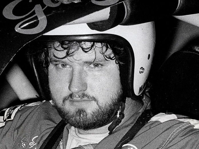 Early in his career, Gary Raven is shown behind the wheel at Illinois' Raceway Park. (Bud Norman Photo)