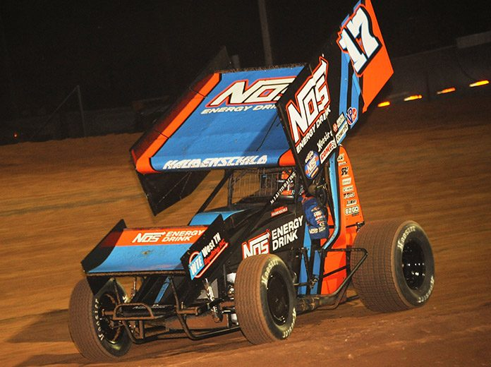 Sheldon Haudenschild is looking to pour on the victories in the run to the World of Outlaws World Finals. (Julia Johnson Photo)