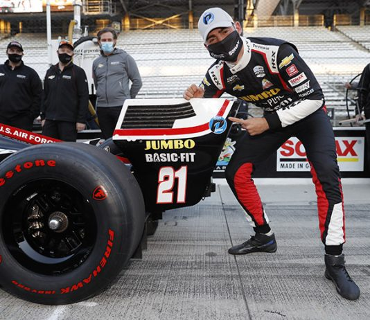 Rinus VeeKay earned his first NTT IndyCar Series pole Thursday at Indianapolis Motor Speedway. (IndyCar Photo)