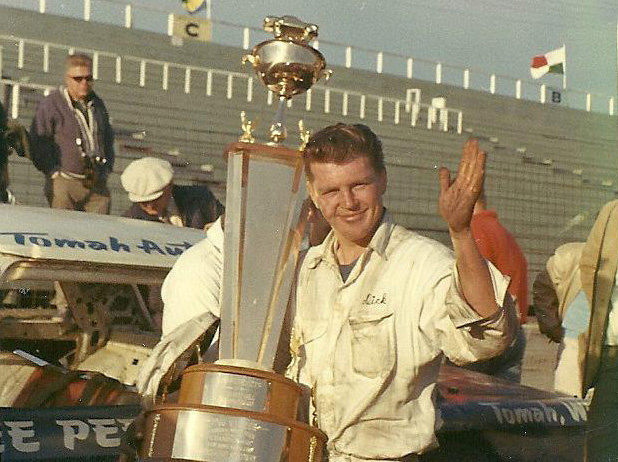 Dick Trickle was the winner of the inaugural National Short Track Championships 200 at Illinois' Rockford Speedway in 1966. (Stan Kalwasinski Collection)