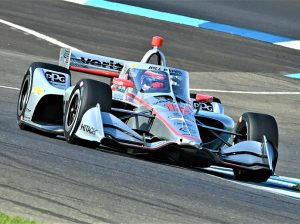 Will Power on track Saturday on the Indianapolis Motor Speedway road course. (Al Steinberg Photo)