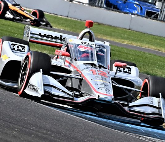 Will Power led every lap to win the second race of the IndyCar Harvest GP Saturday at Indianapolis Motor Speedway. (Al Steinberg Photo)