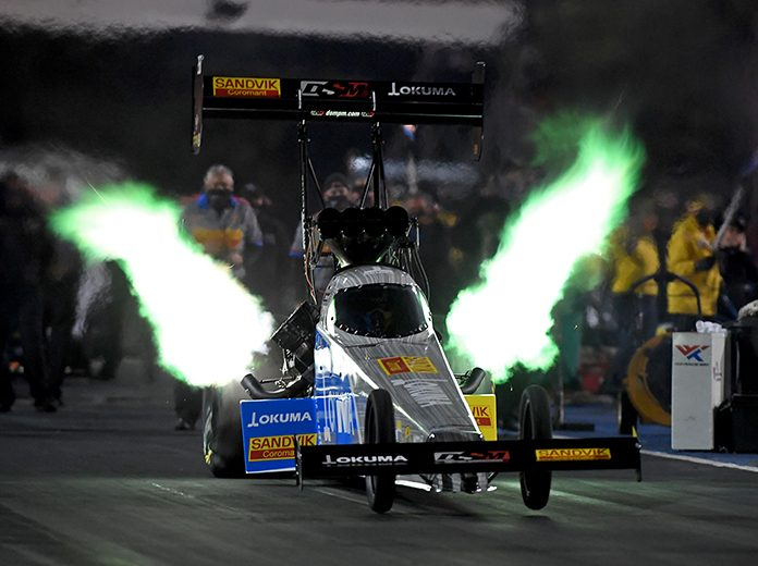 Tony Schumacher claimed his first No. 1 qualifier of the season at World Wide Technology Raceway. (NHRA Photo)