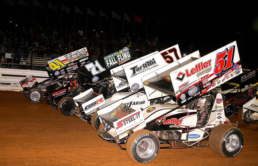 The field prepares to go racing Friday night at Williams Grove Speedway. (Frank Smith Photo)