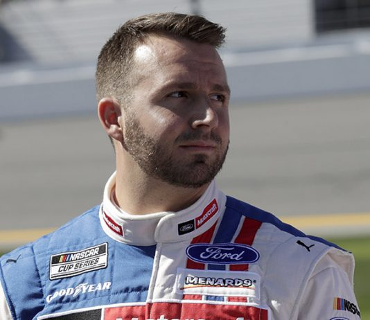 Matt DiBenedetto will remain with Wood Brothers Racing in 2021. (HHP/Harold Hinson Photo)
