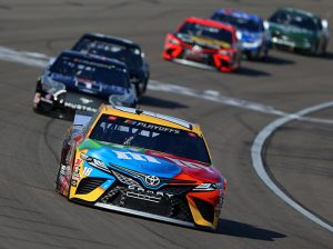 Kyle Busch has one more shot to advance to the next round of the NASCAR playoffs this weekend at the Charlotte Motor Speedway ROVAL. (Brian Lawdermilk/Getty Images Photo)