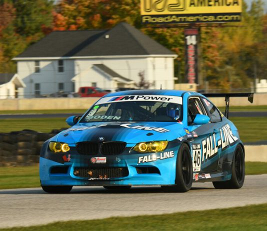 Mark Boden on his way to victory in the Touring 1 race during the SCCA National Championship Runoffs at Road America.