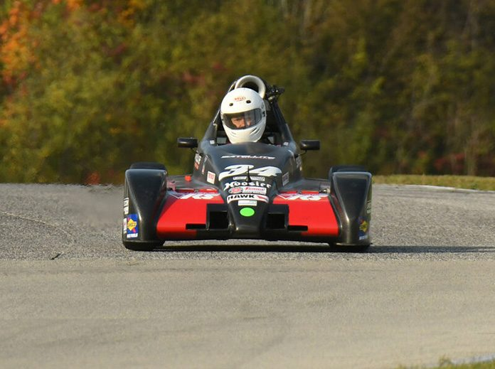 Clint McMahan on his way to victory in the Formula 500 feature during the SCCA National Championship Runoffs at Road America.