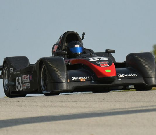 Greg Gyann was the winner in the SCCA National Championship Runoffs Prototype 2 division Friday at Road America.