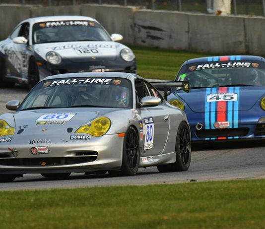 Mark Boden (80) on his way to victory in the Touring 2 division during the SCCA National Championship Runoffs at Road America on Friday.