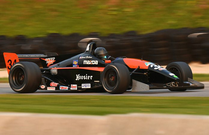 Spencer Brockman on his way to victory in the Formula Atlantic division Friday at Road America.