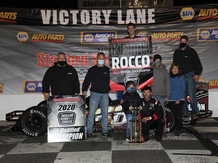 Keith Rocco ended the season at Stafford Motor Speedway in victory lane on Friday evening.
