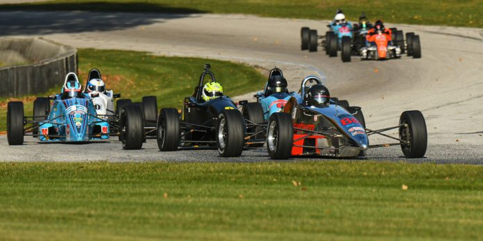 Tim Kautz came out on top during Saturday's Formula F National Championship race at Road America.