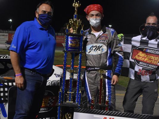 Cole Moore locked up the late model division crown at All American Speedway on Saturday night. (Don Thompson Photo)