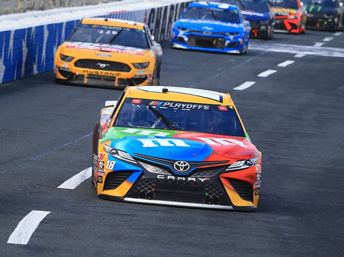 Kyle Busch was one of four drivers eliminated from the NASCAR Cup Series playoffs on Sunday at Charlotte Motor Speedway. (HHP/Jeff Fluharty Photo)