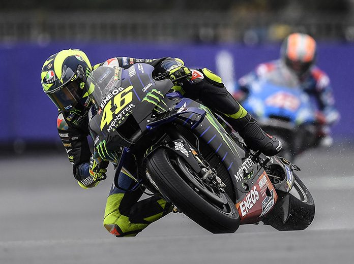 Valentino Rossi has tested positive for COVID-19. (Yamaha Photo)