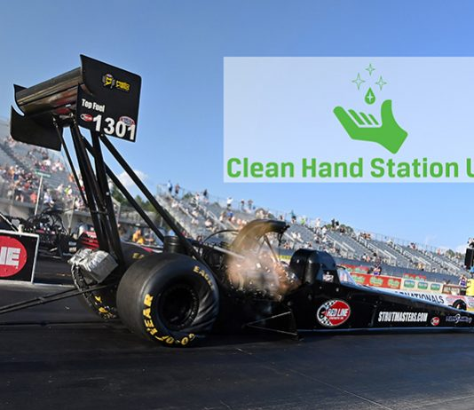 Clean Hand Station will sponsor Foley Lewis Racing during the NHRA SpringNationals.