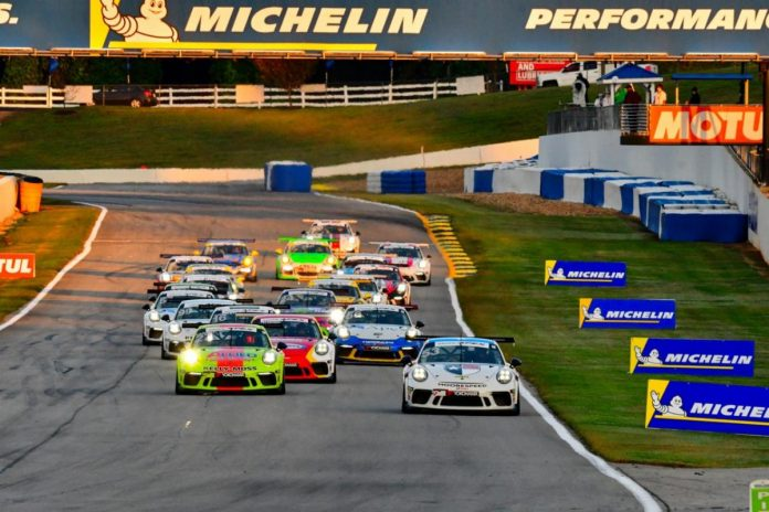 Riley Dickinson was the winner of Friday morning's Porsche GT3 Cup Challenge USA by Yokohama race at Michelin Raceway Road Atlanta. (IMSA Photo)