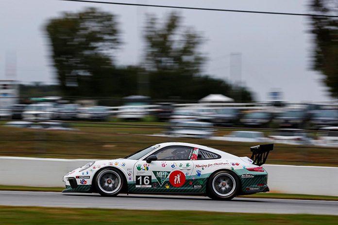 Jeff Kingsley won Friday afternoon's Porsche GT3 Cup Challenge USA by Yokohama event at Michelin Raceway Road Atlanta. (IMSA Photo)