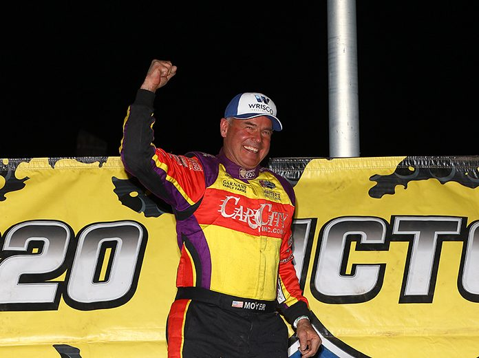 Billy Moyer won Saturday's Lucas Oil MLRA finale at Tri-City Speedway. (Mike Ruefer Photo)