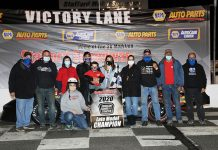 Adam Gray claimed his third championship at Stafford Motor Speedway this year in the late model division.