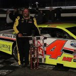 Ben Rowe grabbed his first ACT win in more than 14 years at Oxford Plains Speedway in the Oct. 18 season finale. (Daniel Holben photo)