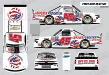 The AirPower Foundation will sponsor Niece Motorsports and Trevor Bayne in two upcoming NASCAR Gander RV & Outdoors Truck Series events.