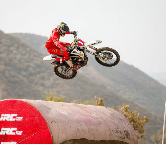 Colton Haaker kicked off his title defense with the opening round EnduroCross win at Glen Helen Raceway. (Jack Jaxson Photo)